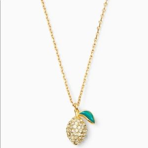 Kate Spade Picnic Perfect Lemon Mini Pendant NWT